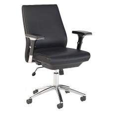 Bush Business Furniture Metropolis Mid Back Leather Executive Office Chair