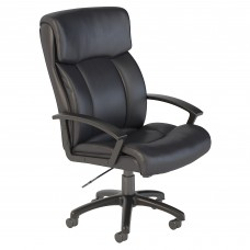 Bush Business Furniture Stanton Plus Mid Back Leather Executive Office Chair
