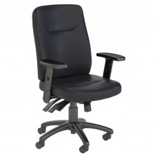Bush Business Furniture Stanton High Back Multifunction Leather Executive Office Chair