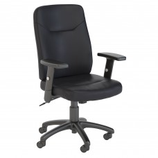 Bush Business Furniture Stanton High Back Leather Executive Office Chair