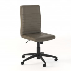 Bush Business Furniture Archive Mid Back Ribbed Leather Office Chair