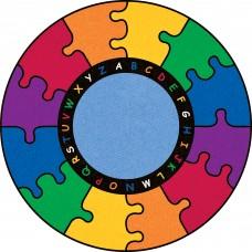 ABC Rainbow Puzzle - Round Small