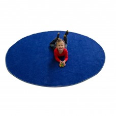 Blue Solid - Round Small