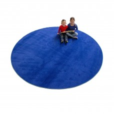 Blue Solid - Round Large