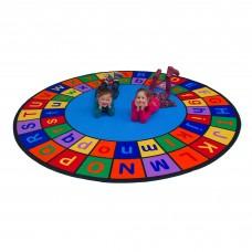 Round Alphabet Grid - Upper & Lowercase - Round Small