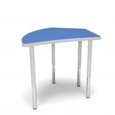 OFM Adapt Series Crescent Standard Table - 23-31″ Height Adjustable Desk, Blue (CREST-LL)