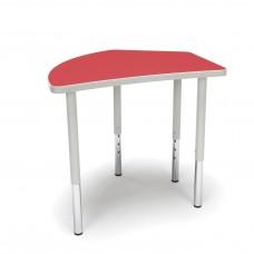 OFM Adapt Series Crescent Standard Table - 23-31″ Height Adjustable Desk, Red (CREST-LL)
