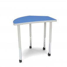 OFM Adapt Series Crescent Standard Table - 25-33″ Height Adjustable Desk with Casters , Blue (CREST-LLC)