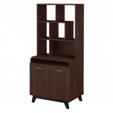 Office by kathy ireland® Centura 2 Door Accent Storage Cabinet with Bookcase Hutch