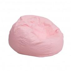 Small Light Pink Dot Kids Bean Bag Chair [DG-BEAN-SMALL-DOT-PK-GG]