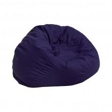 Small Solid Navy Blue Kids Bean Bag Chair [DG-BEAN-SMALL-SOLID-BL-GG]