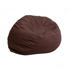 Small Solid Brown Kids Bean Bag Chair [DG-BEAN-SMALL-SOLID-BRN-GG]