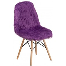 Shaggy Dog Purple Accent Chair [DL-15-GG]
