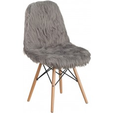 Shaggy Dog Charcoal Gray Accent Chair [DL-16-GG]