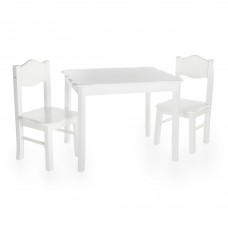 Classic Table and Chairs Set - White