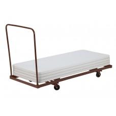 "Brown Folding Table Dolly - Horizontal Storage - Max 72""L"