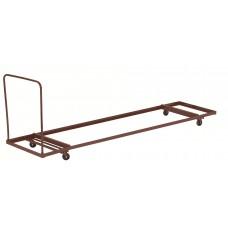"Brown Folding Table Dolly - Horizontal Storage - Max 96""L"