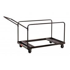 Brown Folding Table Dolly - Vertical Storage - Round & Rectangular Tables