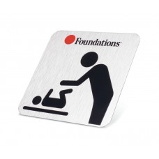 Foundations Wall Plate/Door Sign - Silver - N/A