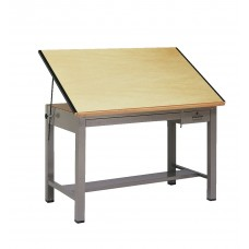Table Drafting Metalfour-Post 72Wx37.5Dx37H Specify Frame Color