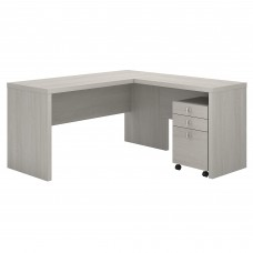 Office by kathy ireland® Echo L Shaped Desk with Mobile File Cabinet
