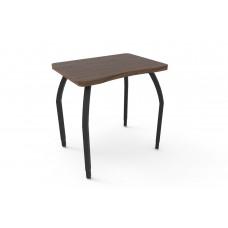 ELO® Plymouth II desk, Montana Walnut laminate & banding w/4 adjustable black legs