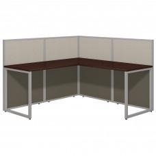 Bush Business Furniture Easy Office 60W L Shaped Desk Open Office