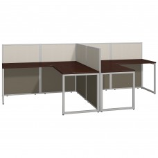 Bush Business Furniture Easy Office 60W Two Person L Shaped Desk Open Office