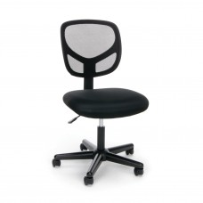OFM Essentials Collection Mesh Back Office Chair, Armless, in Black (ESS-3000)