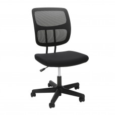 OFM Essentials Collection Armless Mesh Office Chair, in Black (ESS-3002)