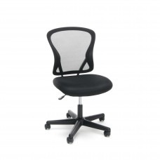 OFM Essentials Collection ESS-3010 Swivel Mesh Back Armless Task Chair, Mid Back, Black