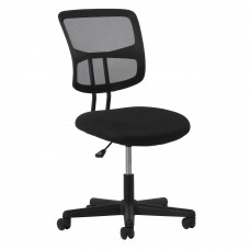 OFM Essentials Collection ESS-3020 Swivel Mesh Back Armless Task Chair, Black