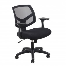 OFM Essentials Collection ESS-3030 Swivel Mesh Back Task Chair with Arms, Black