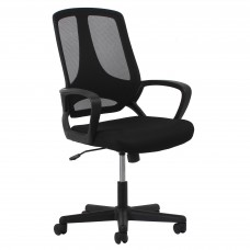 OFM Essentials Collection ESS-3040 Swivel Mesh High-Back Task Chair with Arms, Black