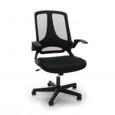 OFM Essentials Collection ESS-3045 Mesh Upholstered Flip-Arm Task Chair, Black