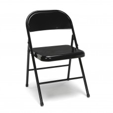 OFM Essentials Collection ESS-8200 Multipurpose Metal Folding Chair, Black, Pack of 4