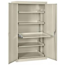 Sandusky Pull Out Tray Shelves Storage, Multi Granite