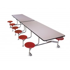 BioFit Tables - The Executive - Chrome  - Specify Laminate and Colors