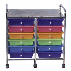 12 Drawer Double Wide Mobile Organizer