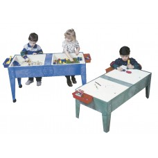 Table Sand + Water 2-Tub Mobile Dry Erase Lids