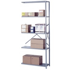 Shelving Steel Add-On 5 Shelf Open Industrial-Duty 84Hx36Wx12D