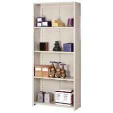 Shelving Steel Starter 5 Shelf Closed Industrial-Duty 84Hx36Wx12D