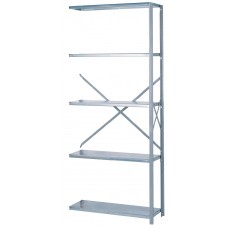 Shelving Steel Galvanized Add-On 5 Shelf Open 84Hx36Wx12D