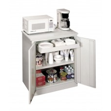 Storage Cabinet Sandusky Lee Refreshment/Machine Stand 36Wx24Dx34H Light Gray Base Medium Gray Top