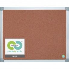 Product Earth it Self-Healing Bulletin Board, 36 x 24 Inch, Aluminum Frame, Cork