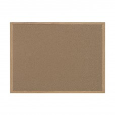 Bi-silque MasterVision Bulletin Board, 48 x 36 Inches, MDF Frame, Recycled Material, Brown