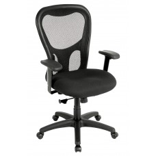 Chair Task Eurotech Apollo High-Back Mesh Back Fabric Seat - Black