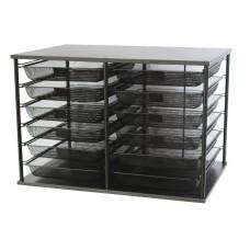 Organizer 12 Compartment Mesh 23.9 X 15.6 X 16.1 Black