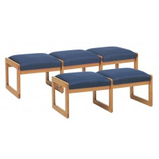 Bench 3-Seat Upholstered W/Wood Sled Base Specify Wood Finish Fabric Style And Color Gr2