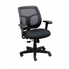 Chair Task Eurotech Apollo Mid-Back Mesh Back Fabric Seat - Specify Fabric Color